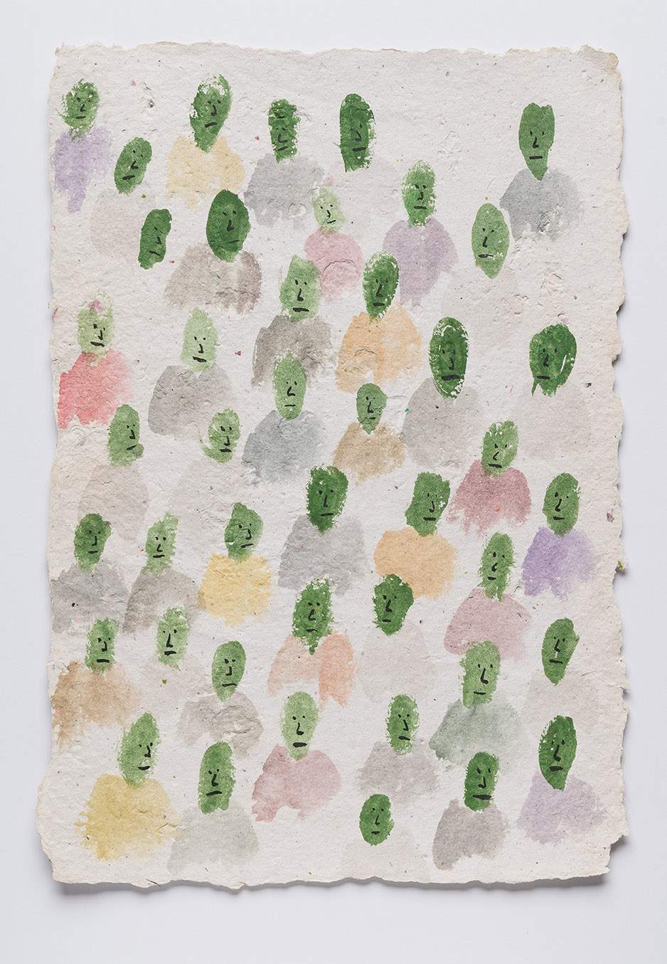 Watching , 2018  ink and pigment on handmade paper