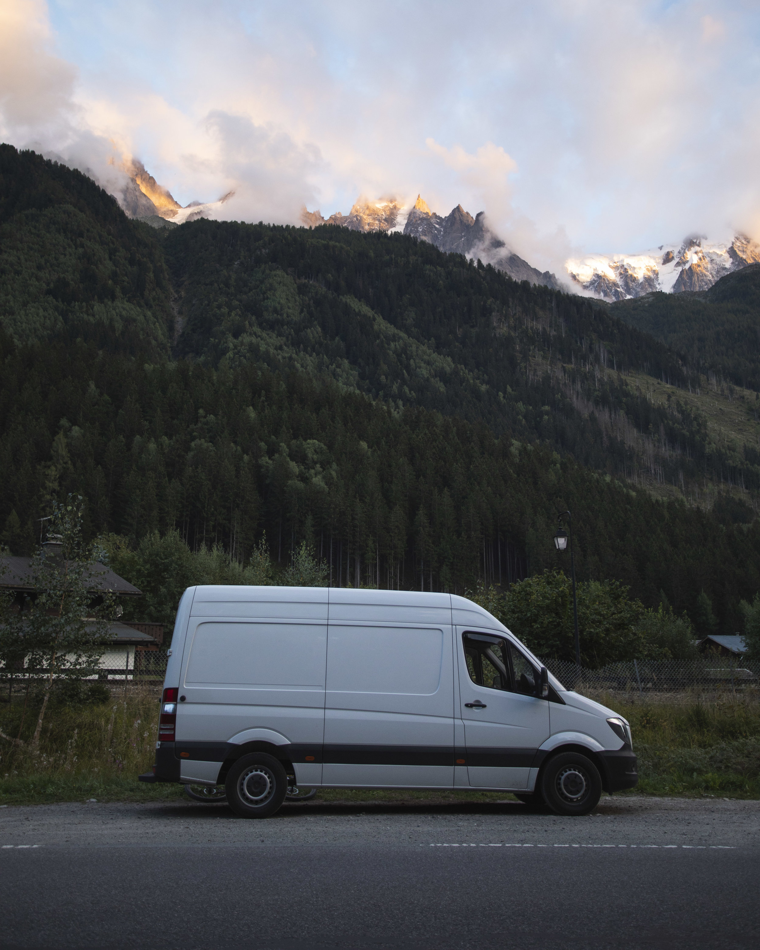 Miska the Sprinter van parked up in Chamonix during the Autumn of 2018 whilst I was working for EpicTV.