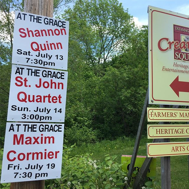Gotta get to The Grace in Tatamagouche. This weekend Shannon Quinn in concert (13th) and St. John String Quartet(14th) Open mic tonight. www.gracejollymore.com/events #tatamagouche #thegrace #creamerysquare #shannonquinn