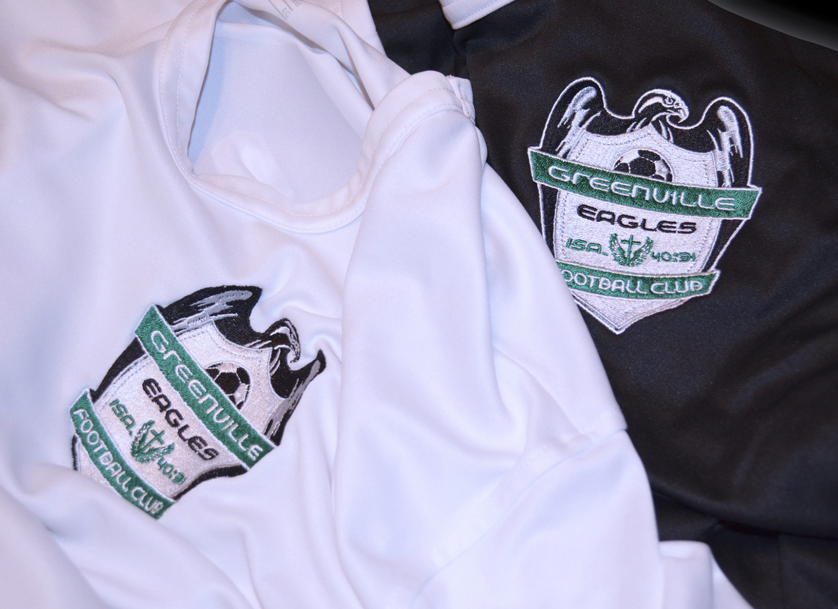 greenville eagles soccer logo design embroidered on jersey