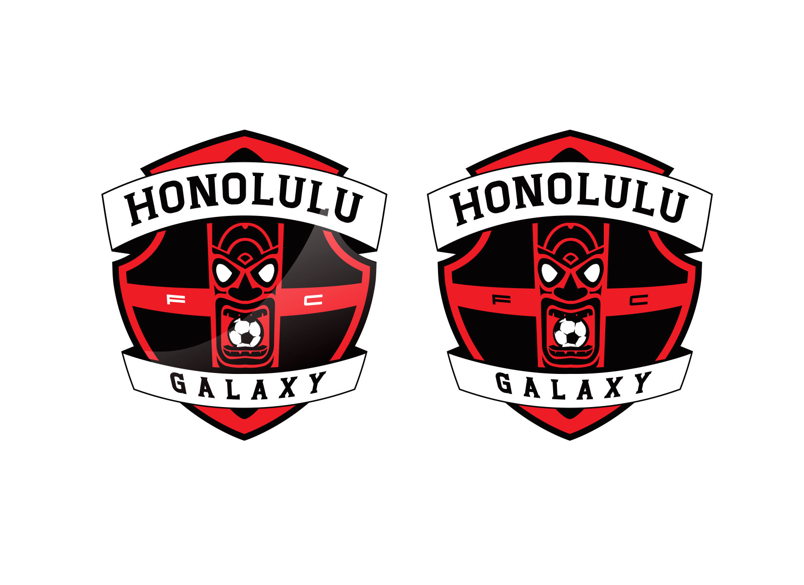 custom soccer logo design option for hawaii soccer club by jordan fretz design