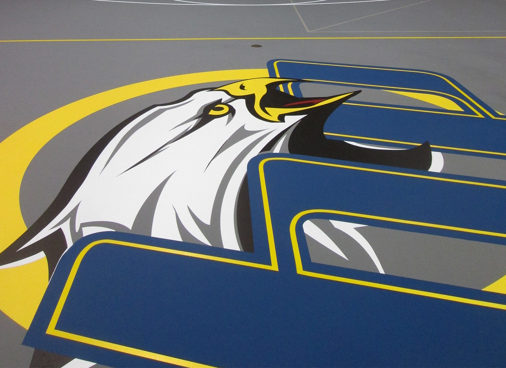 basketball center court logo design by jordan fretz