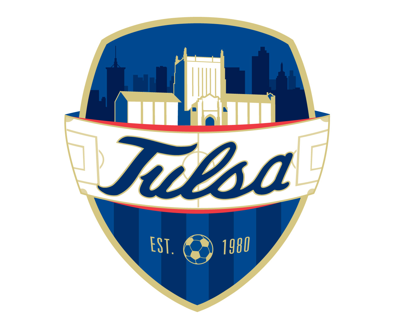 custom soccer logo design for tulsa university soccer by jordan fretz design