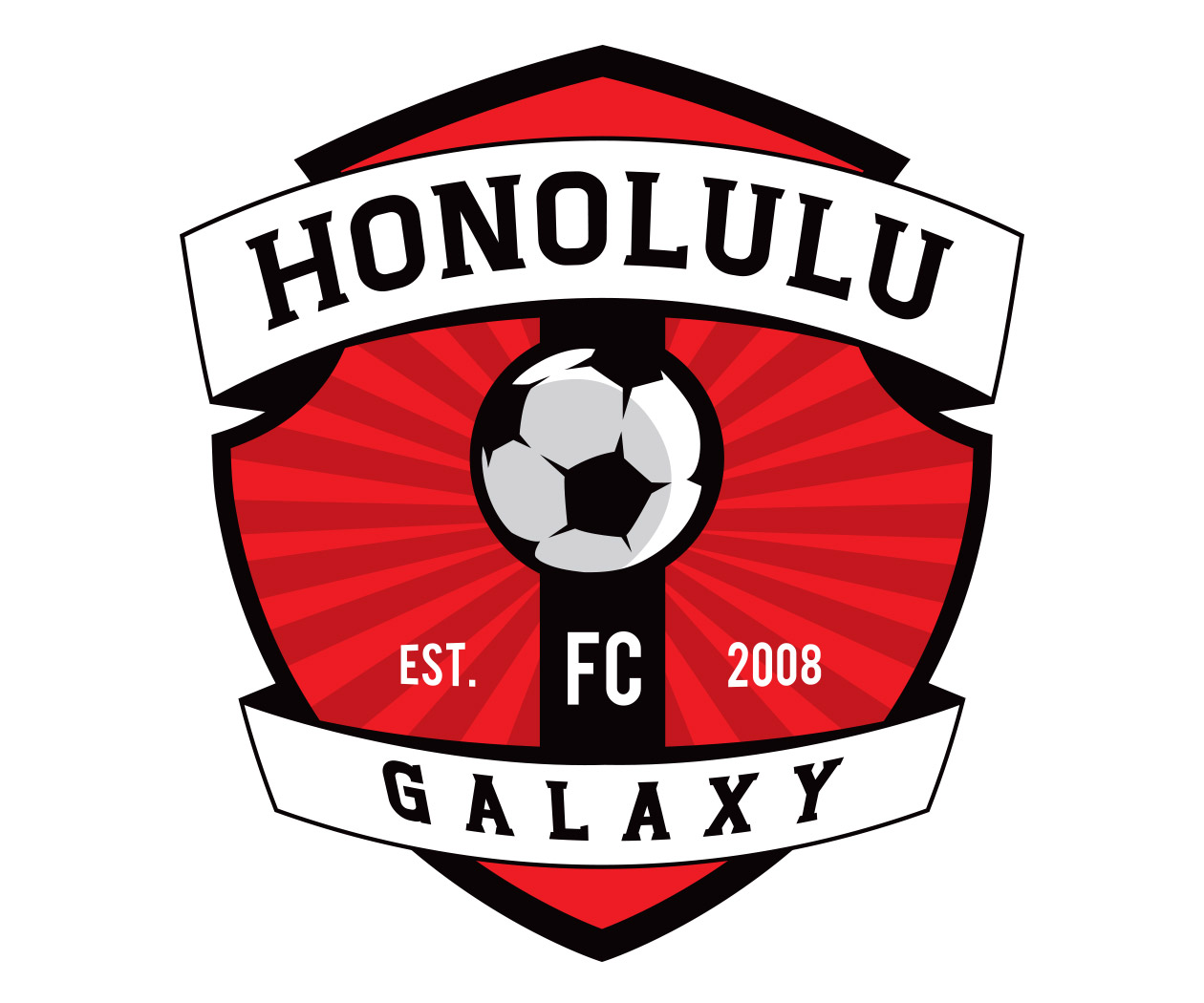 custom soccer logo design for the honolulu galaxy by jordan fretz design