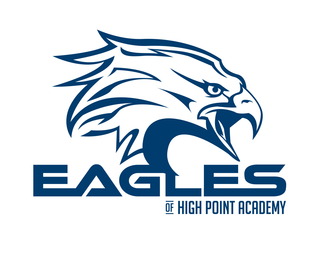 custom sports logo design for the hp eagles by jordan fretz design