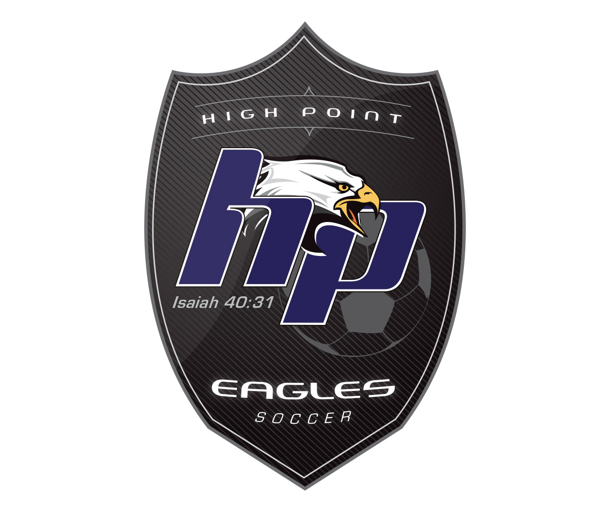 custom soccer logo design for the hp eagles soccer by jordan fretz design