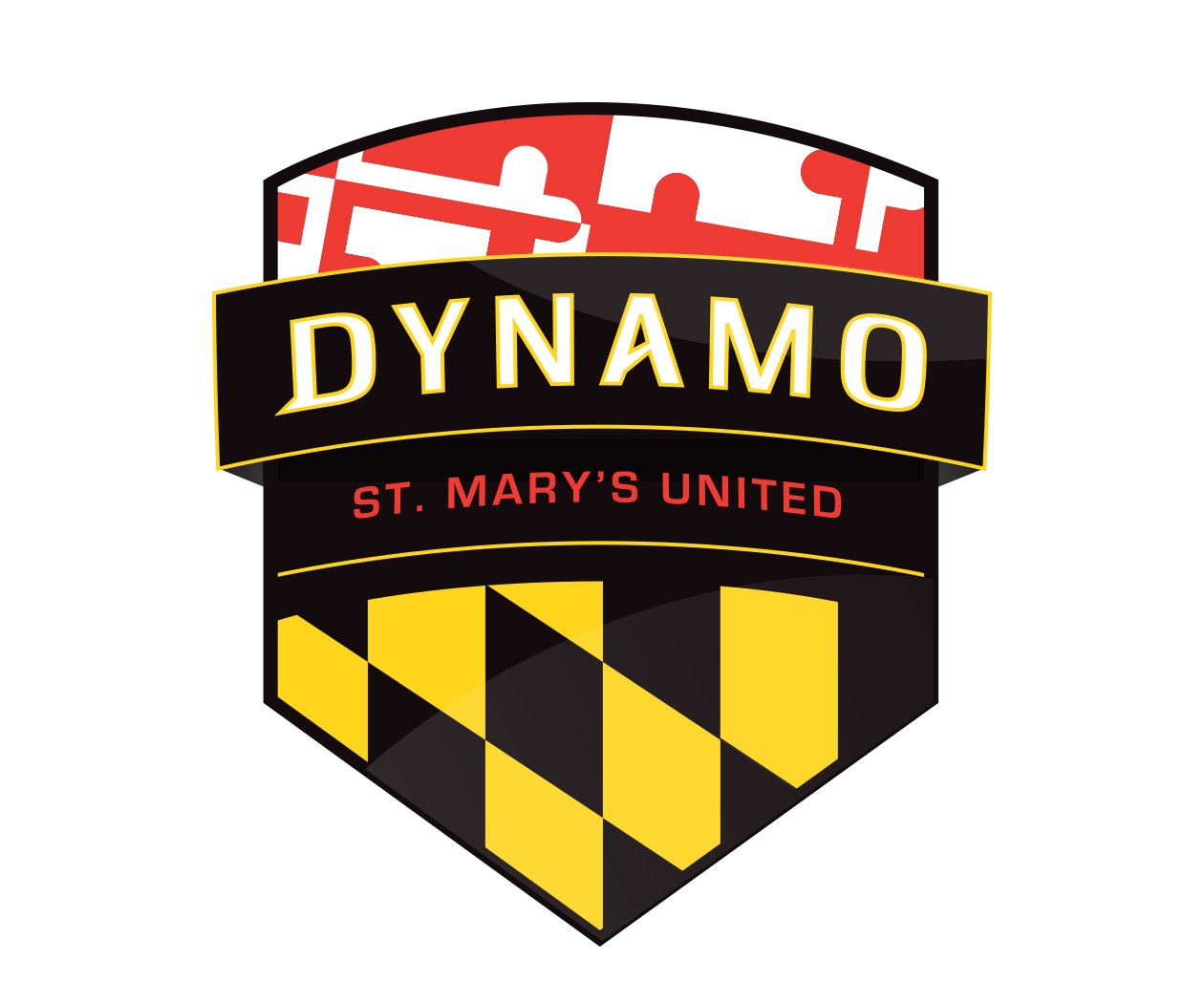 custom soccer logo design for maryland soccer club by jordan fretz design
