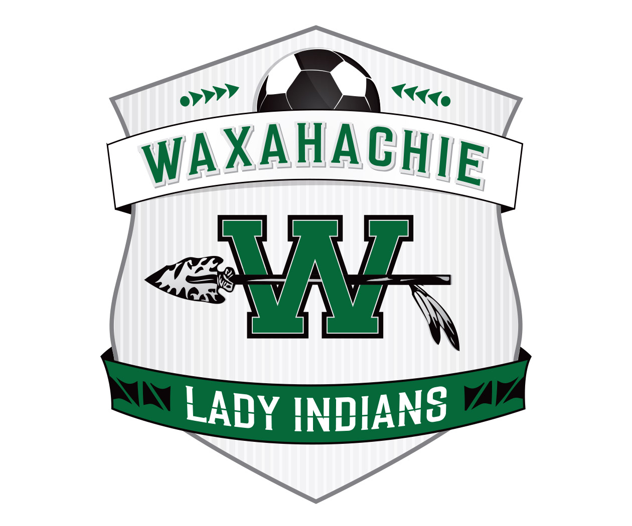 custom soccer logo design for the waxahachie lady indians soccer by jordan fretz design