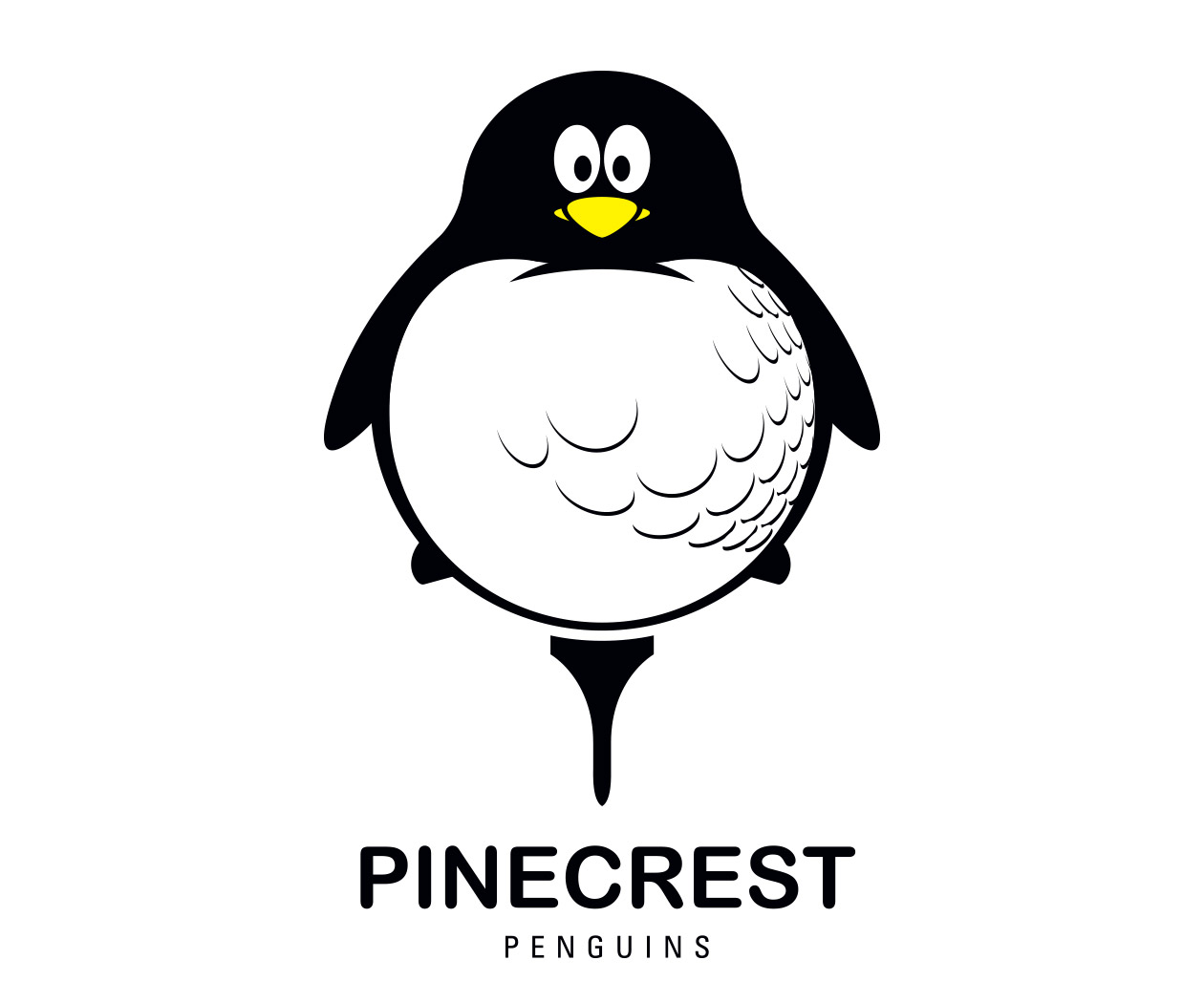 custom country club children's golf team logo design for the pinecrest penguins by jordan fretz design