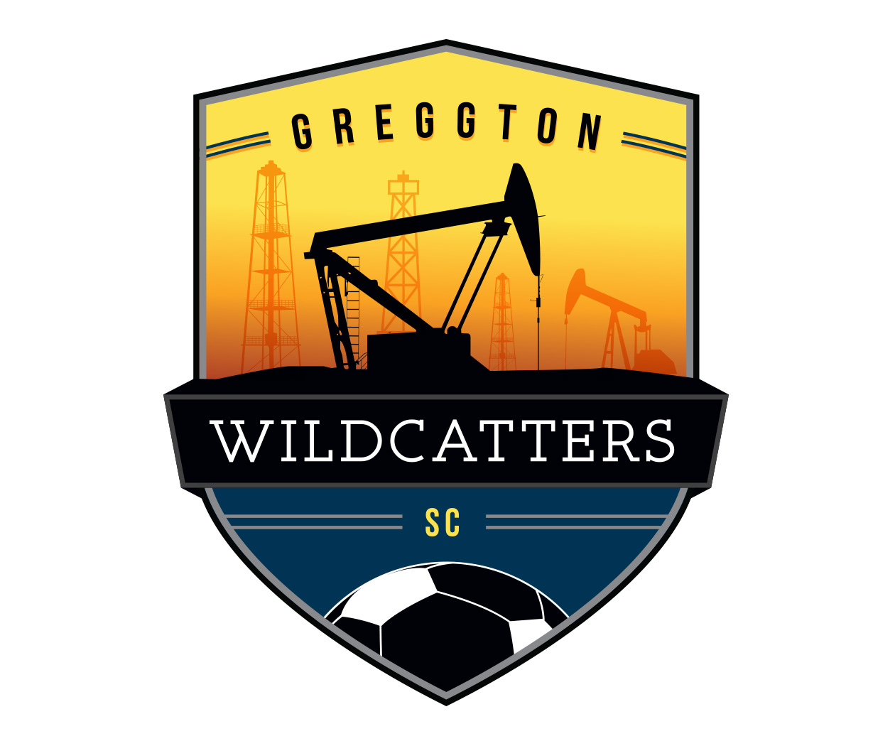 custom soccer logo design for greggton wildcatters soccer by jordan fretz design