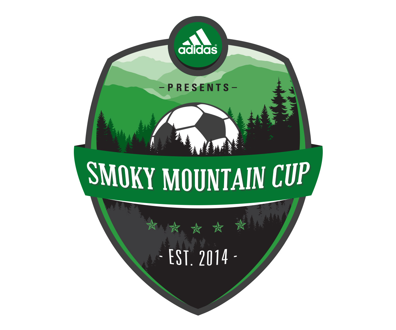 custom soccer logo design for the smokey mountain cup by jordan fretz design