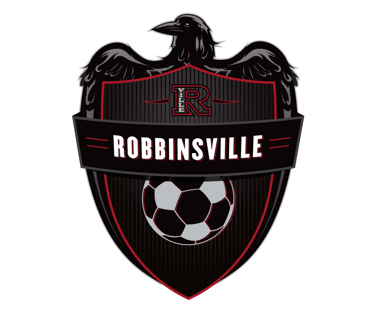 custom soccer logo design for robbinsville soccer by jordan fretz design