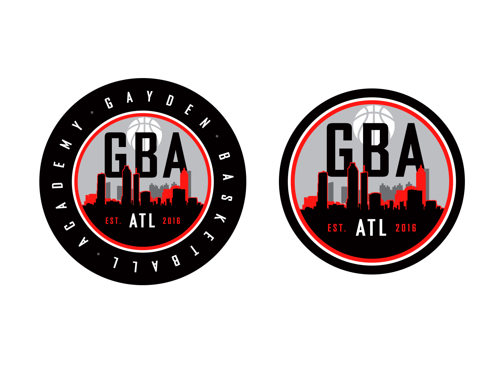 basketball academy logo design option