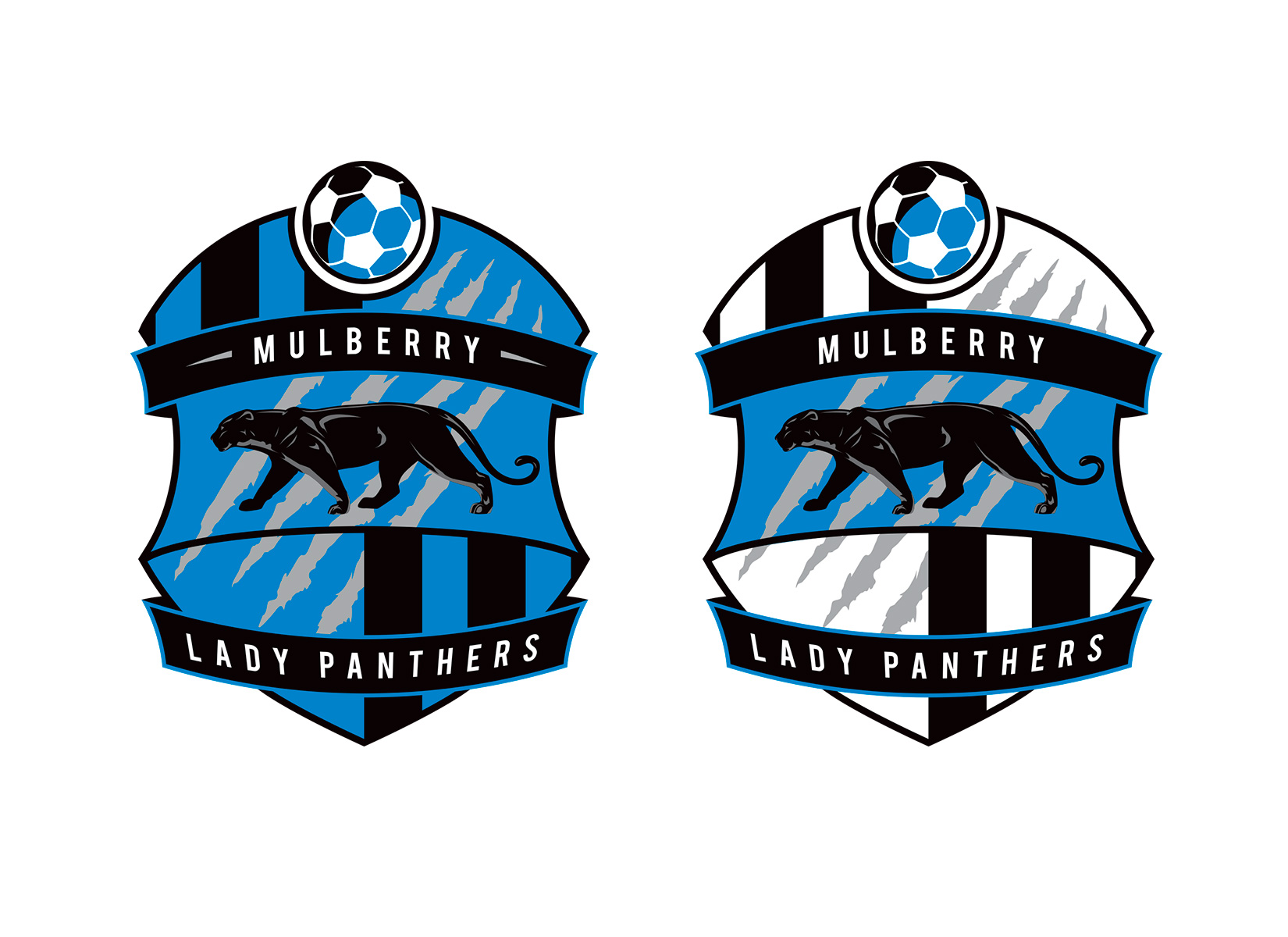 mulberry soccer badge design