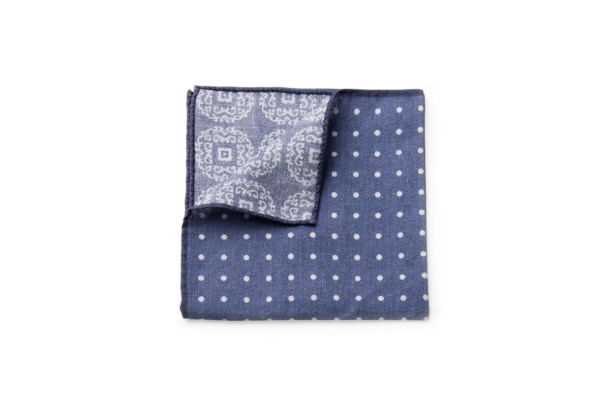 Cotton Blue Dot - $55