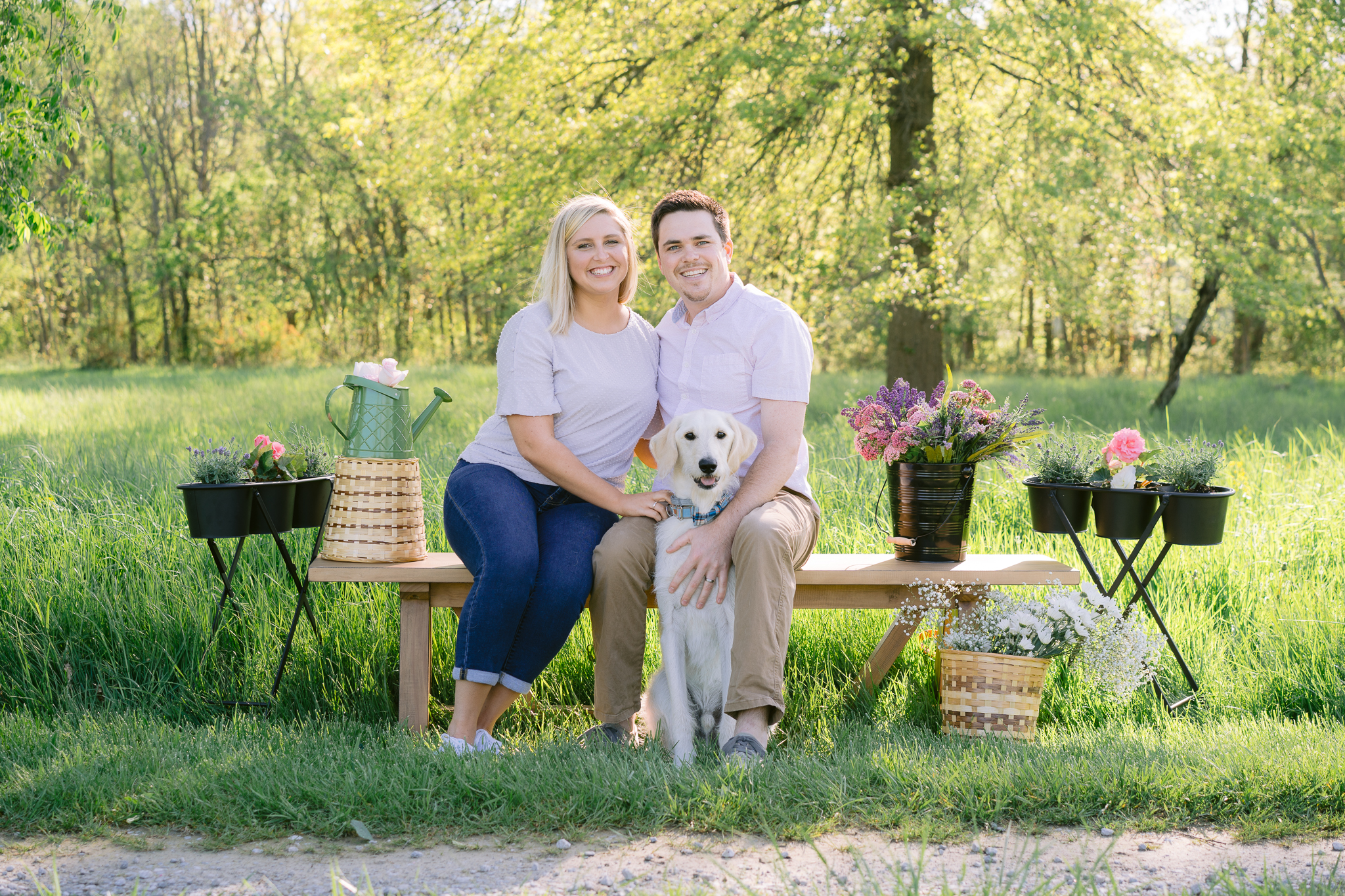 Couple Spring Mini Shoot with their Dog