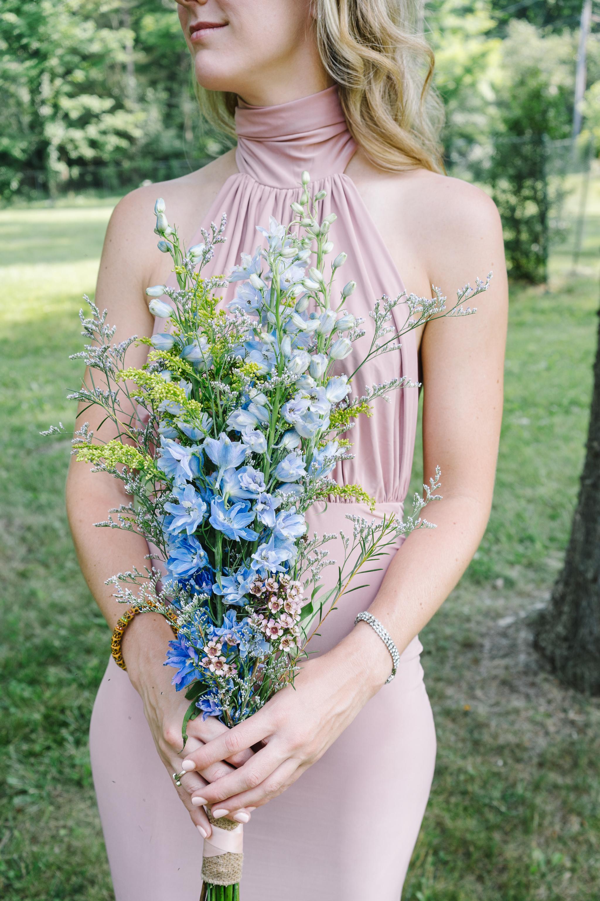 Backyard Wedding, Bridesmaid Florals