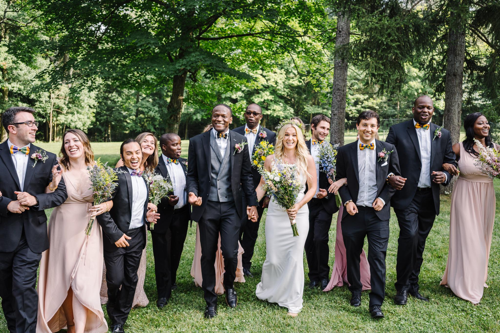 Backyard Wedding Bridal Party