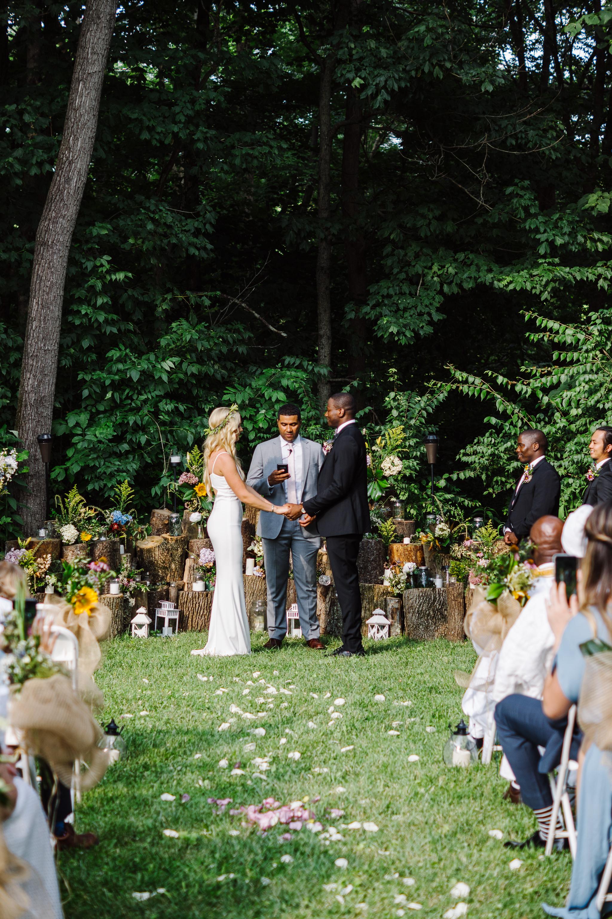 Married in Backyard Wedding