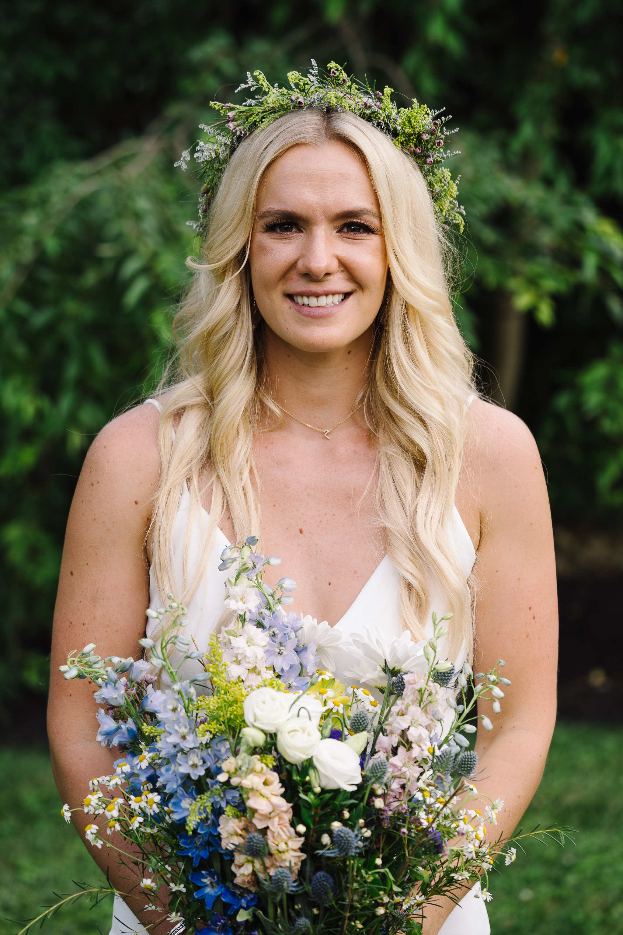 Bride with Wildflowers