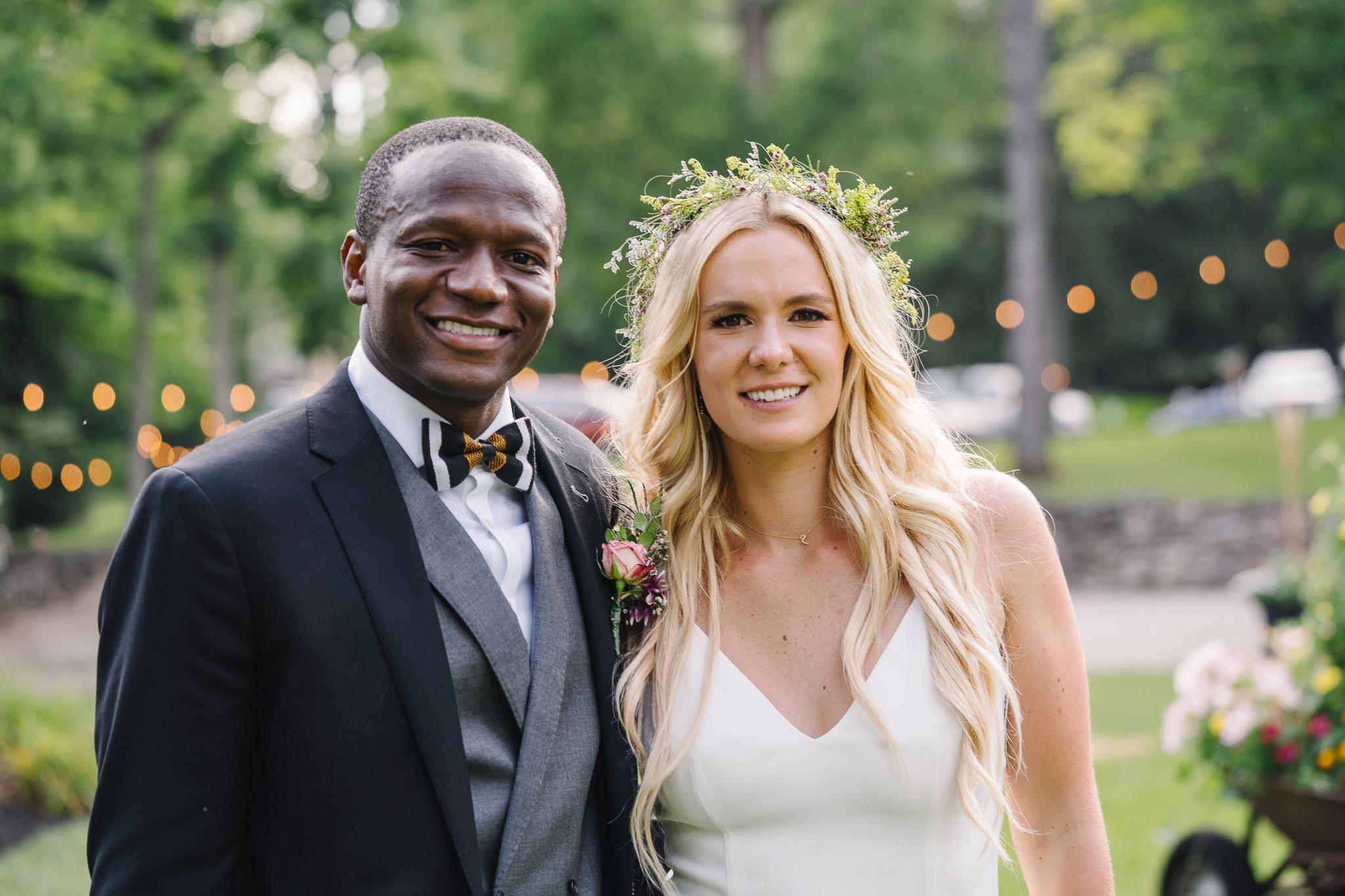 Bride and Groom Backyard Wedding