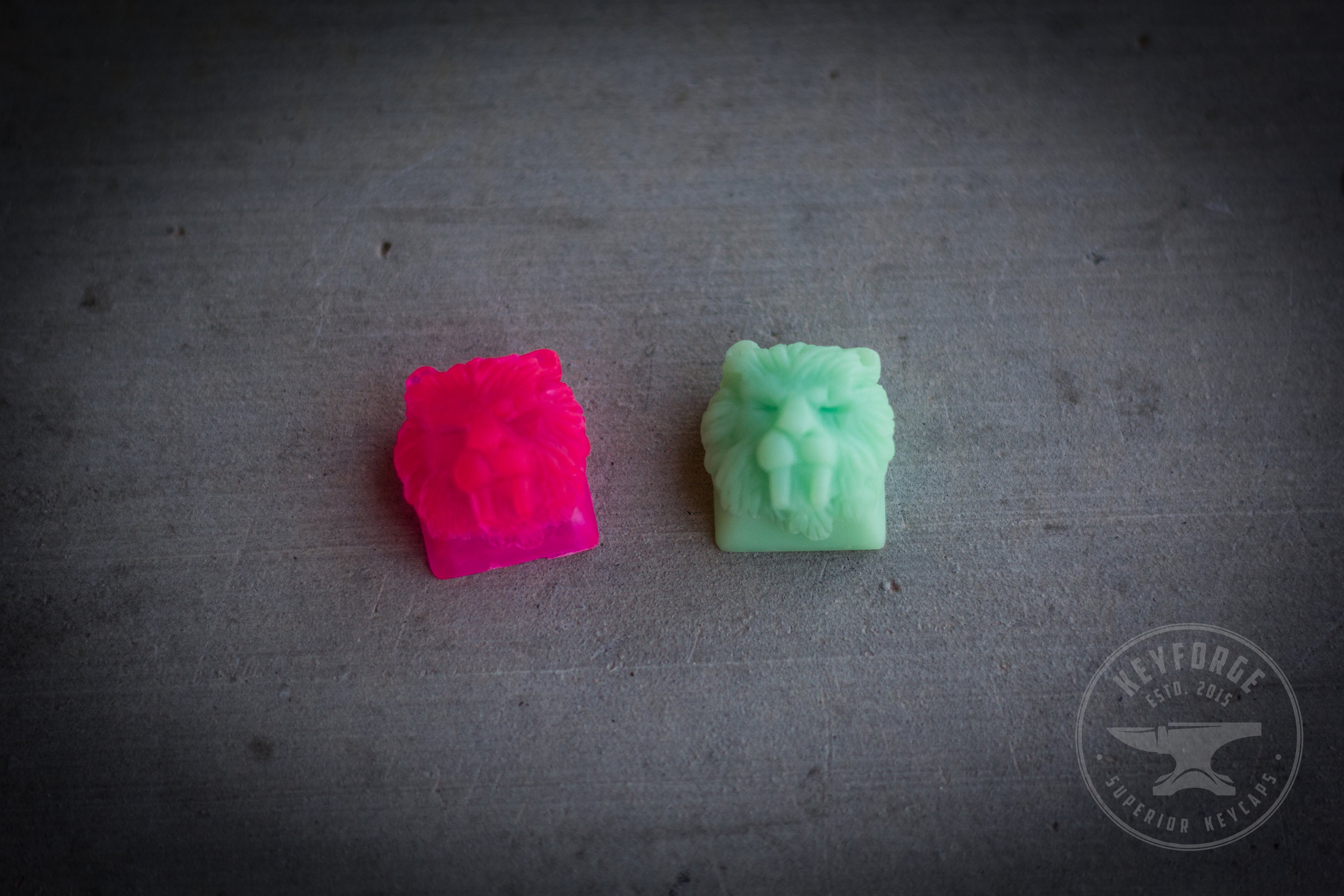 Saber -  Fuchsian  (Left)  Saber -  Cucumber Freeze  (Right)   MYSTERY KEYS  $0