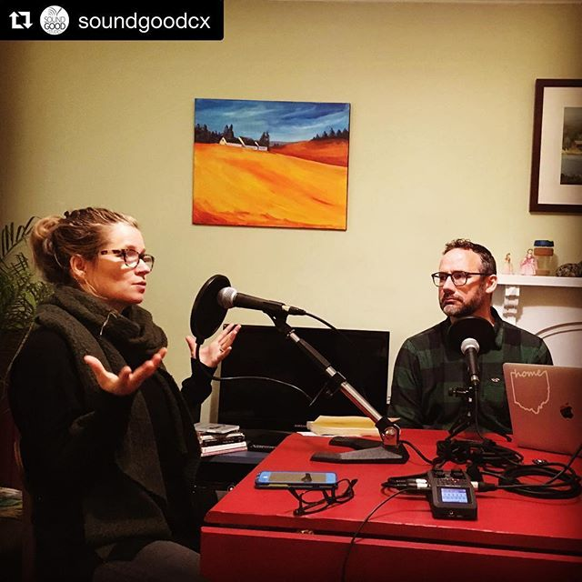 From @soundgoodcx, and an excellent podcast recording session with clients @findtheoutside —we look so stern when we are deep in amazing conversation! For episode ten—coming up later this fall—we talked about how to shape and share the story of change movements, with resonance and 'white space'. And a little existential wonder, too. #FTOpodcast ・・・ Morning podcast session for @findtheoutside  #podcast #podcasting