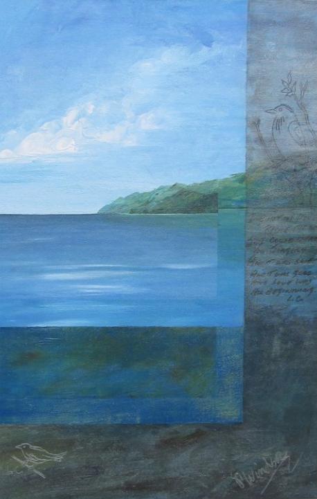 """Lencoh    Acrylic on canvas  36"""" x 24""""  Currently for sale"""