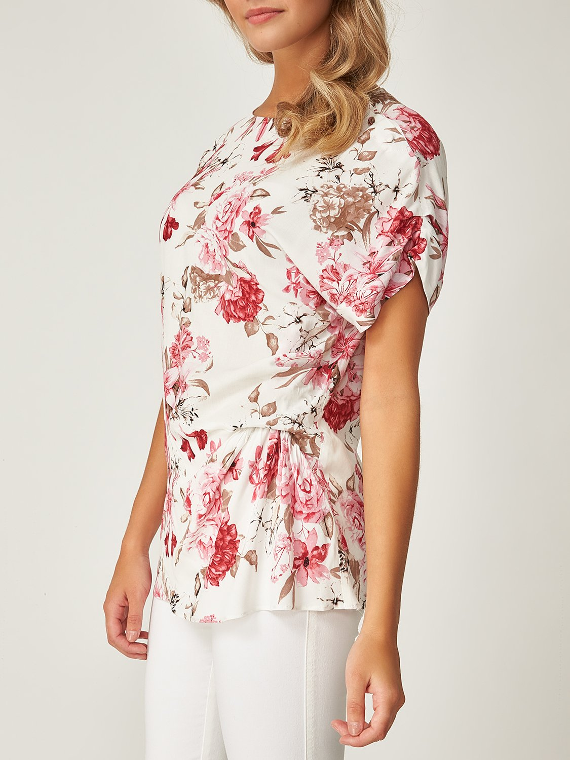 Printed Asymmetrical Blouse