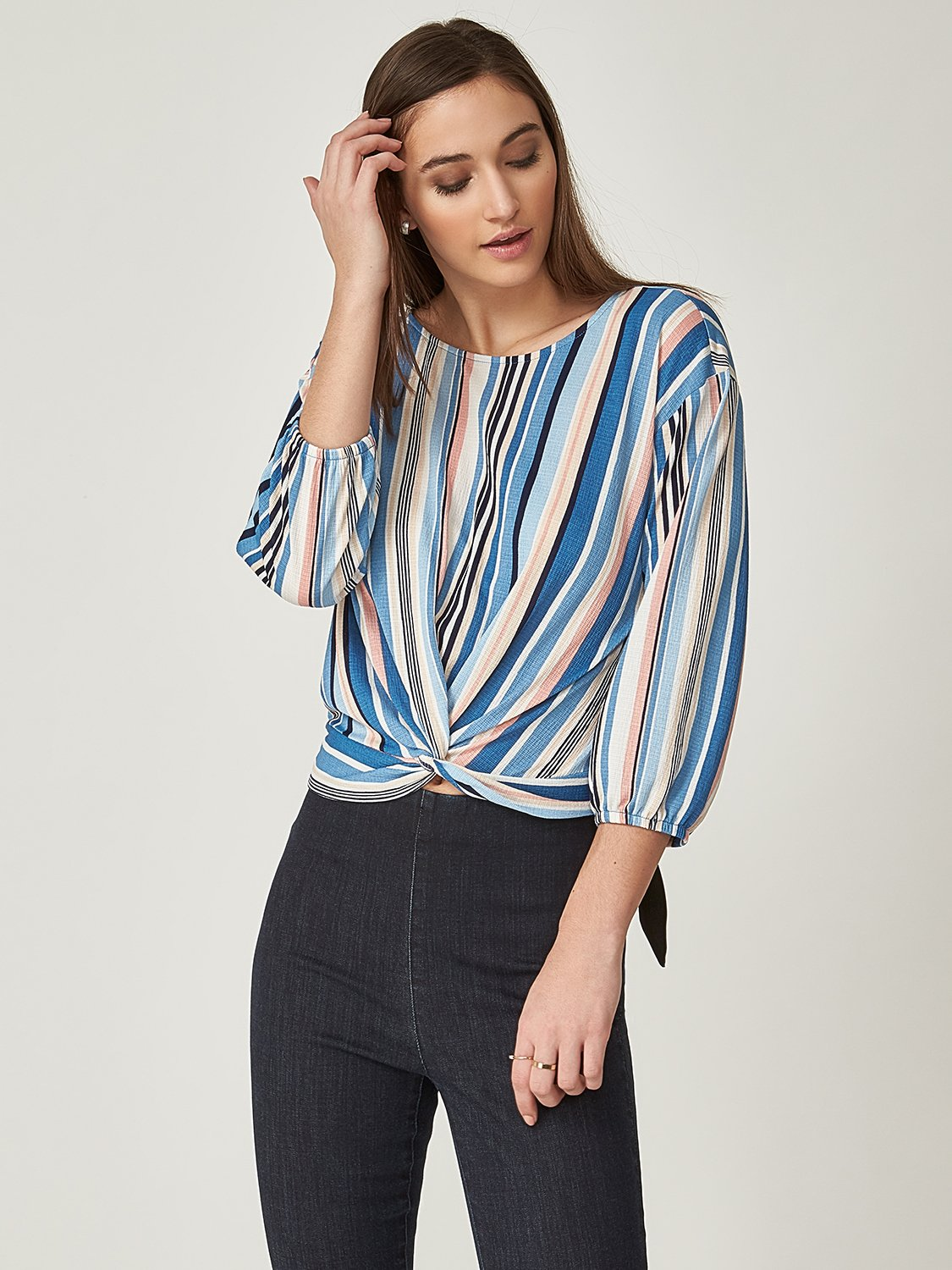 Twist Front Knit Top