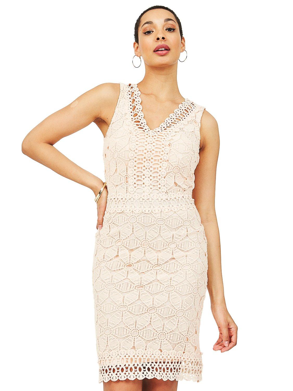 Crochet Lace V-Neck Dress