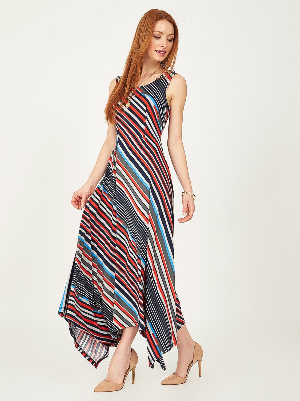 Striped Hanky Hem Dress