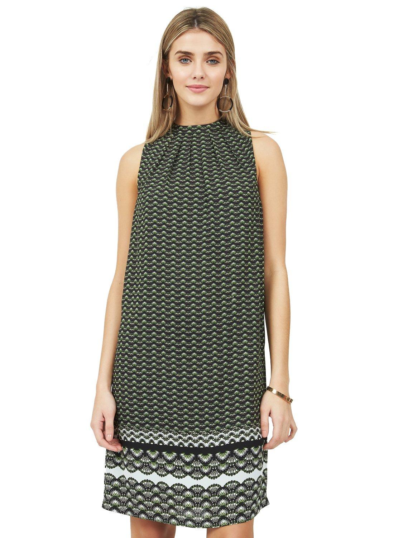 Pleated Tie Back Dress