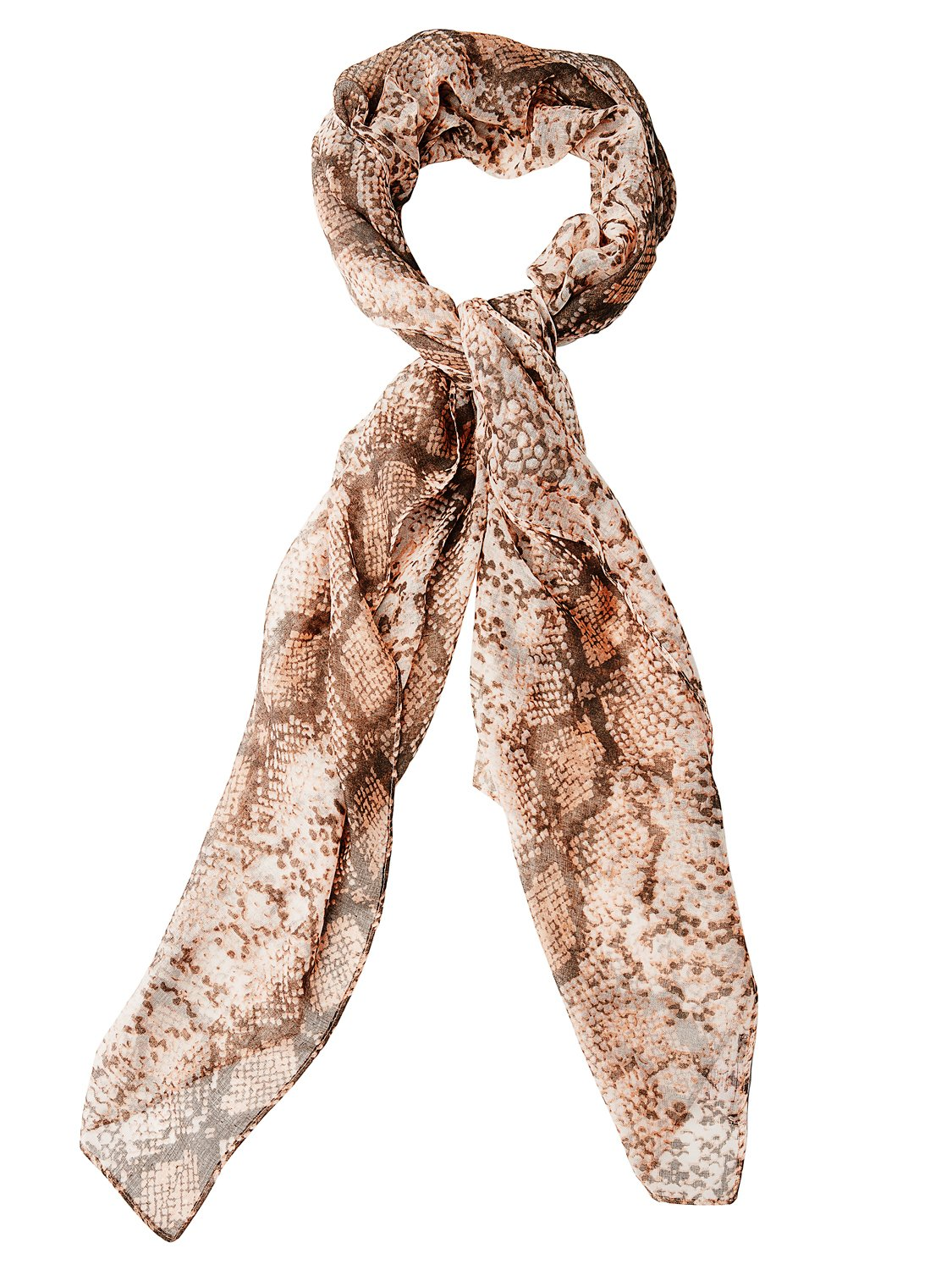 Snake Print Woven Scarf