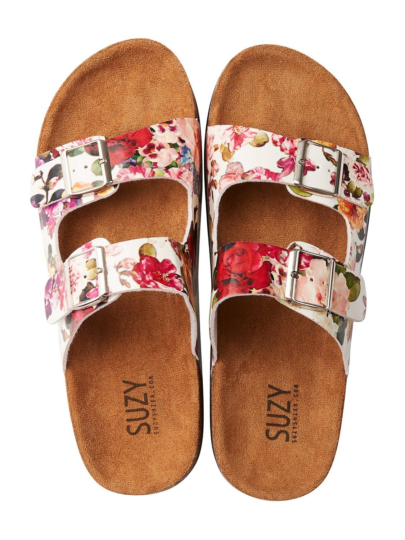 Floral Buckle Sandals