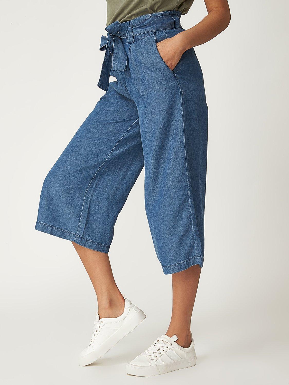 Pantalon Gaucho en jean