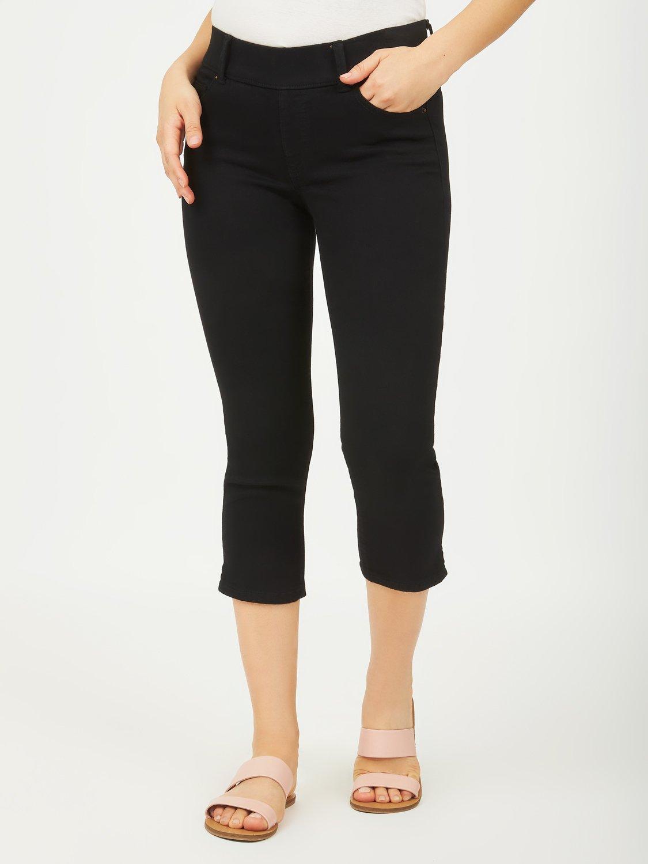 Pantalon capri en twill extensible