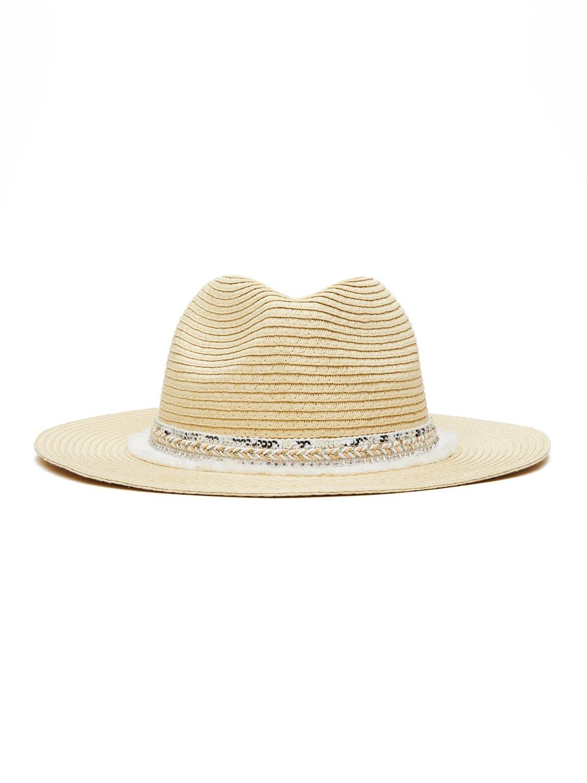 Gem Fringe Straw Hat
