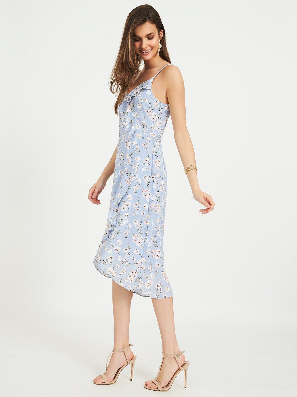 High-Low Ruffle Dress