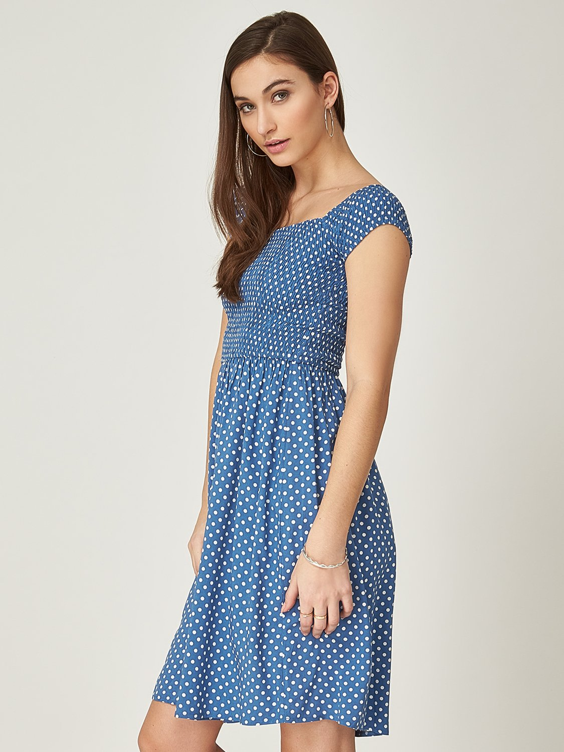 Woven Off-The-Shoulder Dress