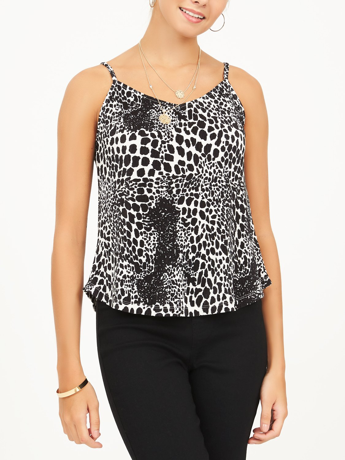 Animal Print Spaghetti Tank Top