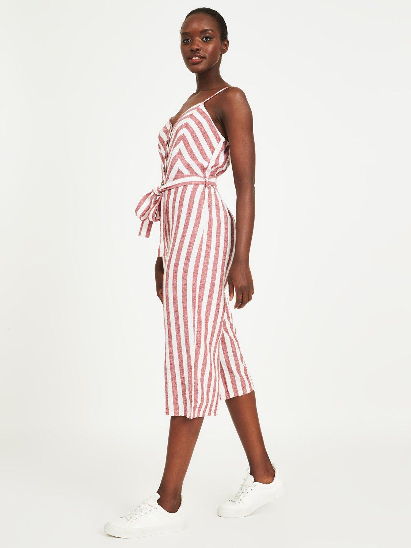 Striped Gaucho Jumpsuit