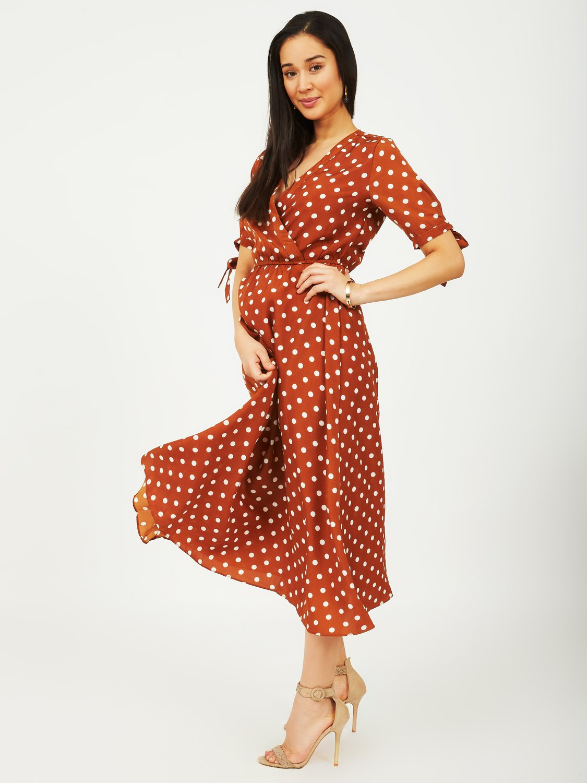 Dotted Midi Dress