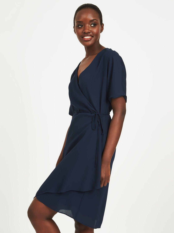 Crossover Wrap Dress