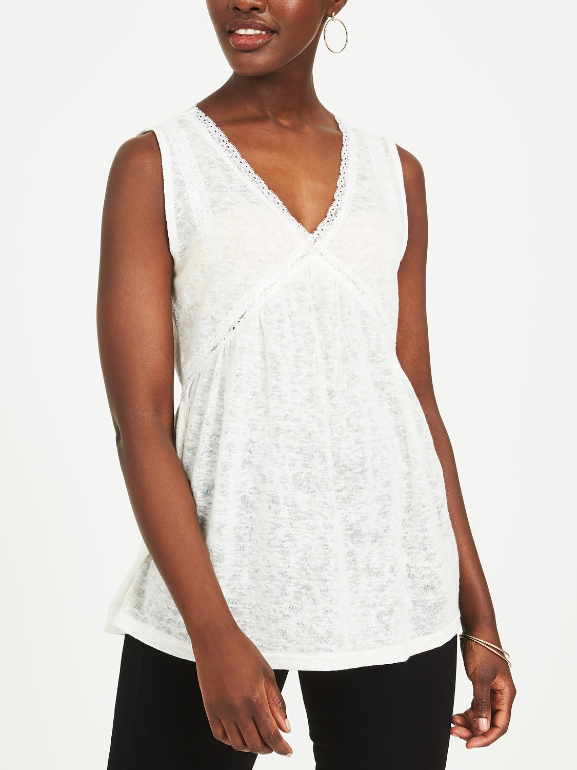 Copy of Empire Waist Lace Tank Top