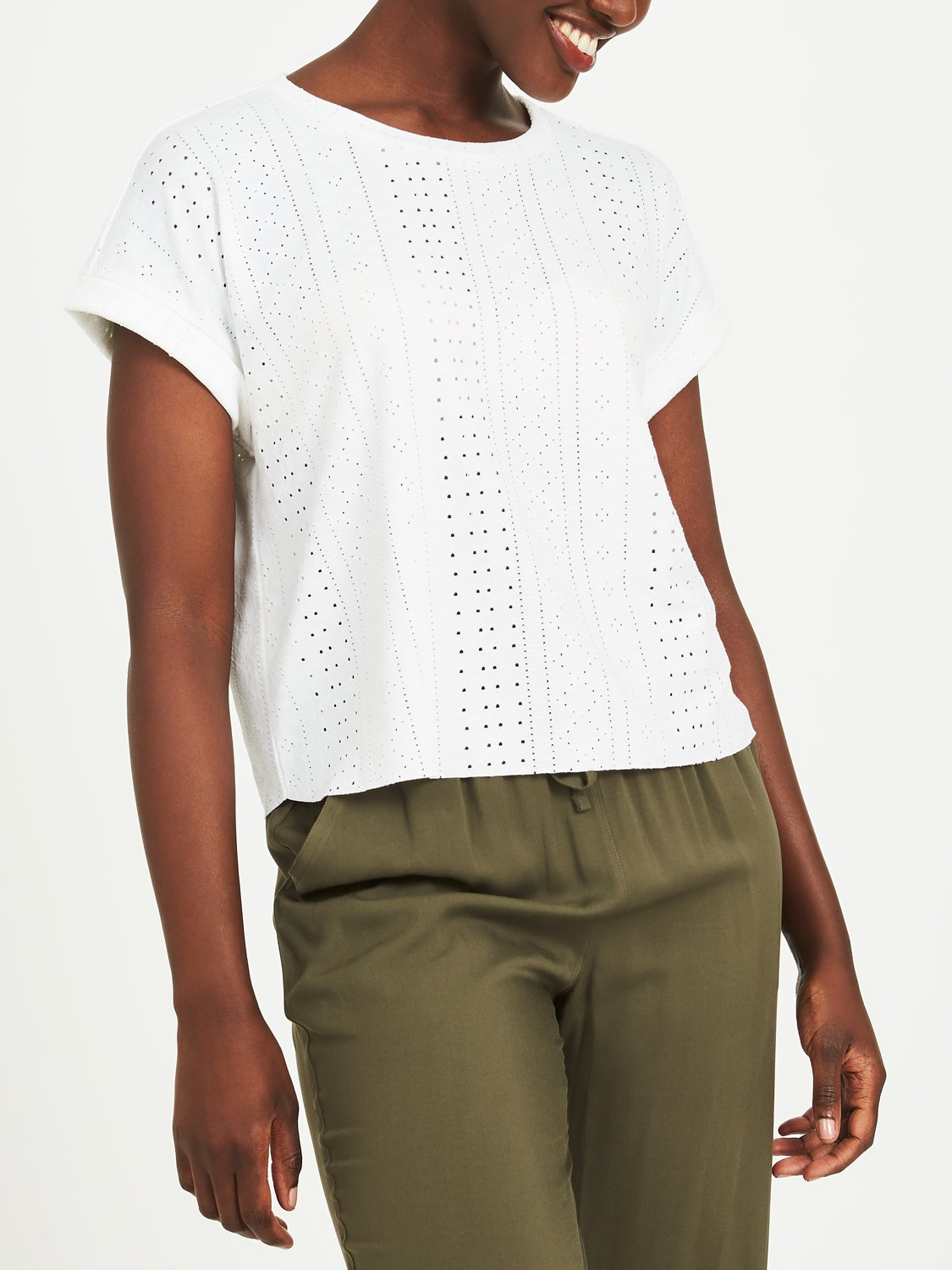 Copy of Boxy Eyelet Crop Top