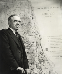 Ernest W. Burgess, photographed by Stephen Deutch, University of Chicago Photographic Archive