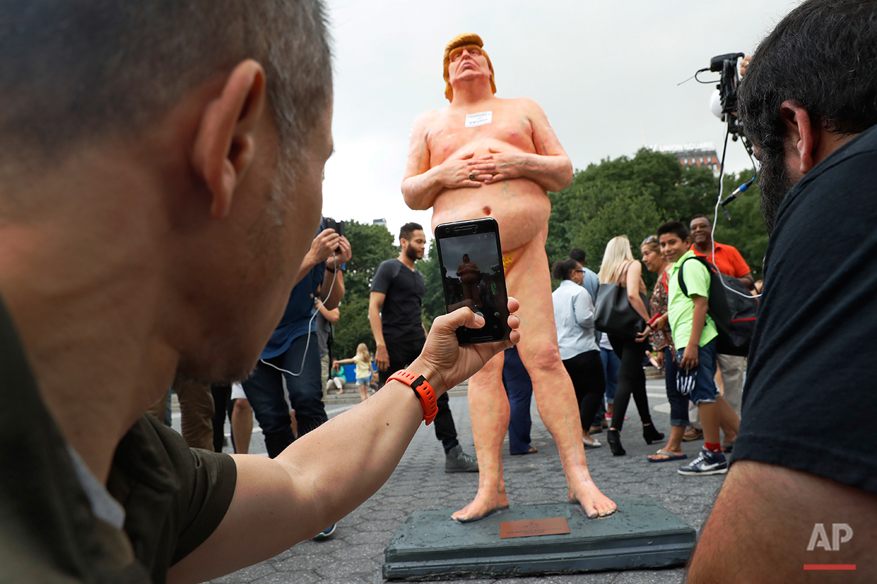 Naked Trump Statue