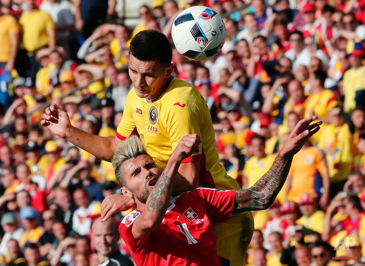 Soccer Euro 2016 Romania Switzerland