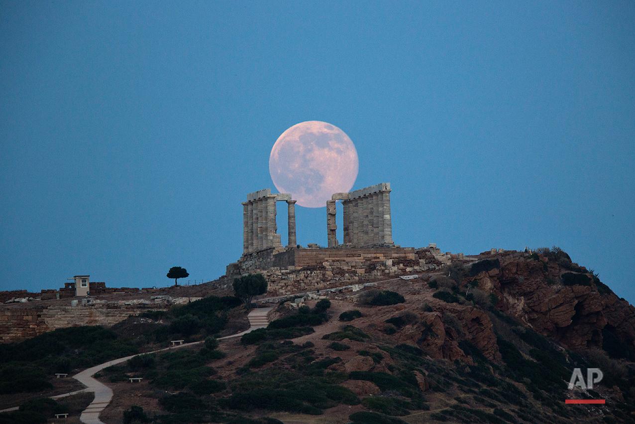 Greece Full Moon